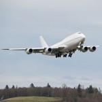 Press photo of Boeing 747-8 (courtesy of Boeing Corp.)