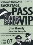 NAND Band Backstage Pass